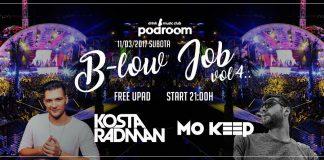 b low job party podroom
