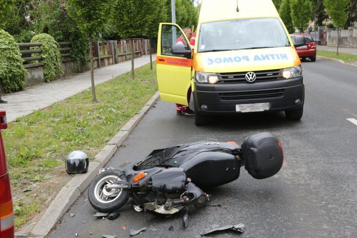 Skuter auto prometna nesreća Čakovec