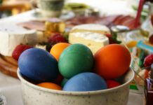 Uskrs hrana stol uskrsnica
