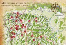 Turistička karta gornjeg Međimurja