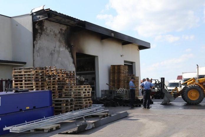 Požar u Industrijskoj zoni u Pribislavcu