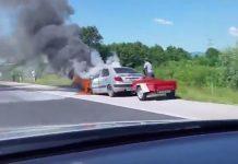 Auto požar autocesta Goričan-Zagreb