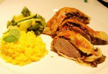 Svinjski file Wellington s rižom i povrćem