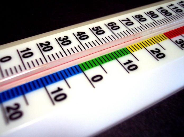 termometar temperatura vruće hladno