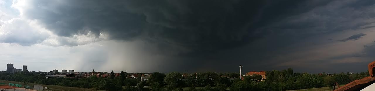 Fotografija tučonosne oluje u Međimurju