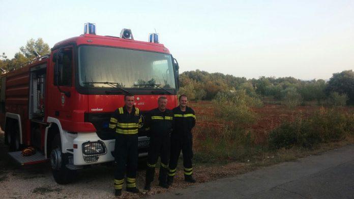 Međimurski vatrogasci Ugljan požar