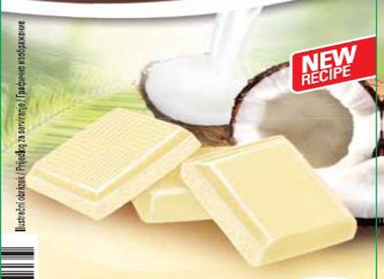 bijela čokolada s kokosom