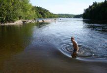 voda kupanje plivanje vruće jezero