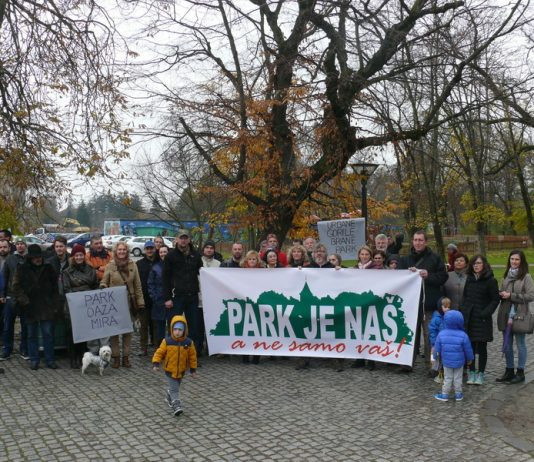 prosvjed park je nas