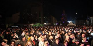 Doček nove godine trg Čakovec