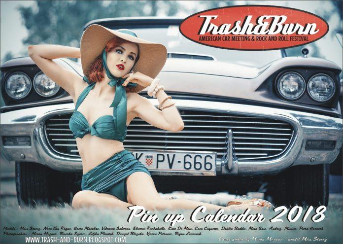 TRASH&BURN pin-up kalendar 2018.