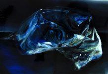 Ledenjak, 130x220cm,ulje i smola na medijapanu, 2016.