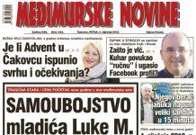 Međimurske novine - naslovnica br. 1164