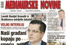 Međimurske novine - naslovnica br. 1165