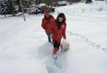 Crveni križ Čakovec snijeg pomoć teren