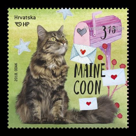Poštanska marka_Maine Coon