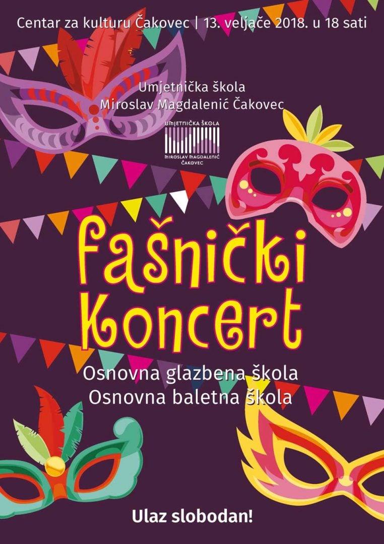 Fašnički koncert UŠ Miroslav Magdalenić Čakovec
