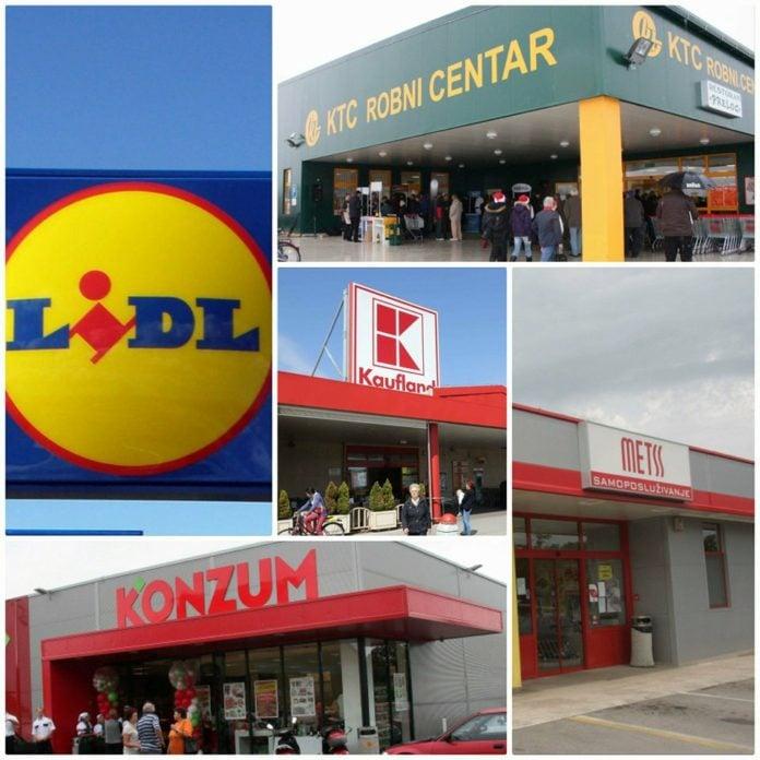 Popis velikih trgovačkih centara, radno vrijeme za blagdane
