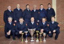 Dio nagrađenih vatrogasaca u Čateksu s lijeva Radovan Kraljić, Nenad Lakatoš, Nenad Biškup i Milivoj Mihalic