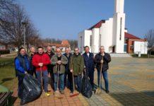 branitelji čišćenje trg Šenkovec1