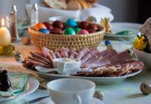 uskrs šunka hrana stol