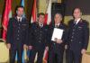 Zapovjednik M.Grbavec, predsjednik S.Kozar, nagrađeni i zamjenik predsjednika B.Mađarić i zamjenik zapovjednika A.Kvakan