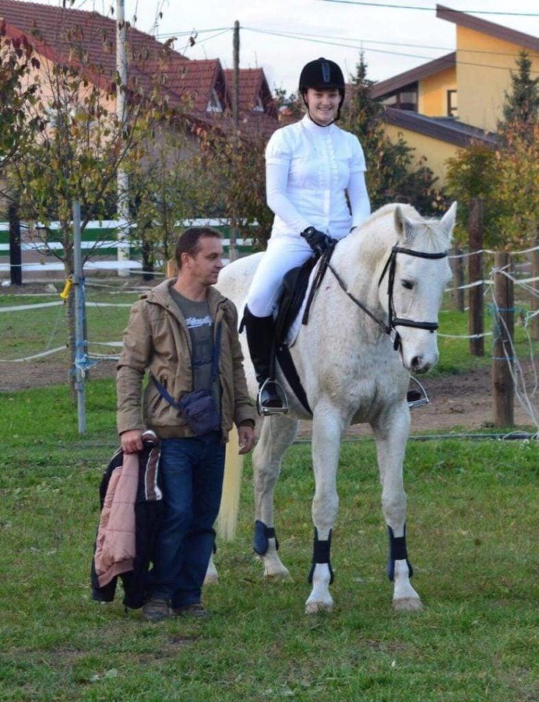 Jahačica Veronika Krištofić i njezin trener Stjepan Goričanec