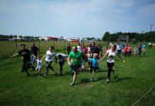 Športko subota trčanje roditelja i djece