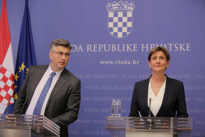 Andrej Plenković Martina Dalić FOTO: Tomislav Miletic/PIXSELL