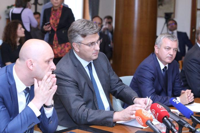 Tomislav Tolušić Andrej Plenković Darko Horvat Foto: Patrik Macek/PIXSELL