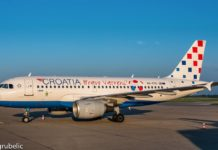Croatia Airlines Vatreni avion