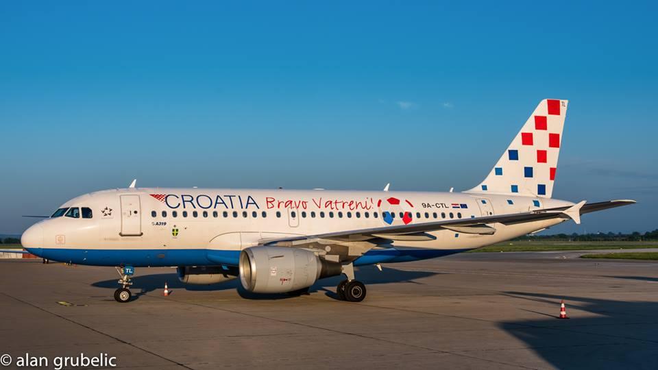 ovo je avion croatia airlinesa kojim će vatreni doletjeti na veliku