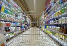 trgovina prodaja supermarket kolica blagajna