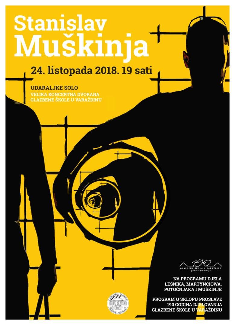plakat Stanislav Muškinja u Varaždinu