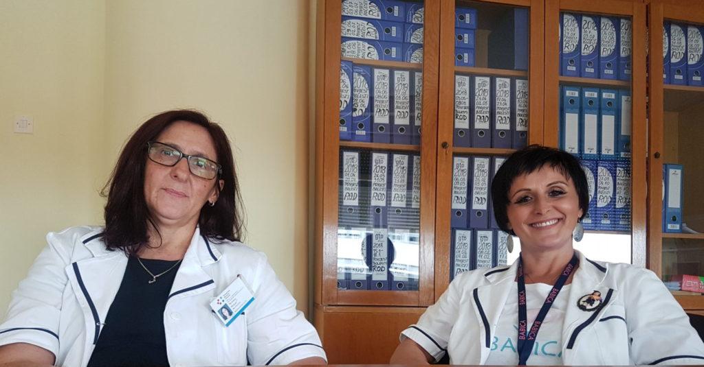 Glavna sestra odjela za ginekologiju, porodništvo i neonatologiju Nevenka Horvat i glavna primalja Karmen Cecarko Vidović