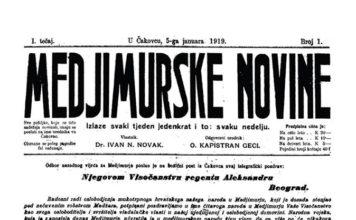 prvi broj Međimurske novine