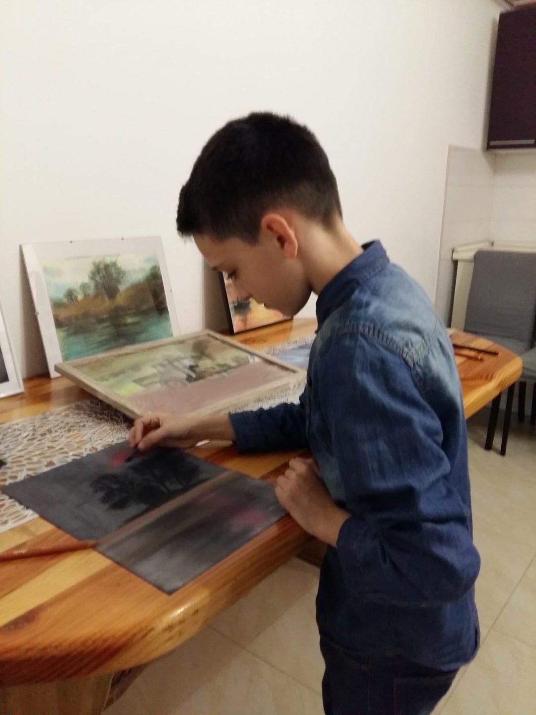 Aleksandru Kovačiću tek je 10 godina, a već su mu likovni radovi bili izloženi u Lisinskom