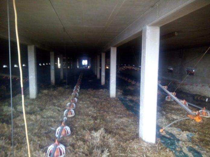Unutrašnjost prostorije nakon što je požar ugašen