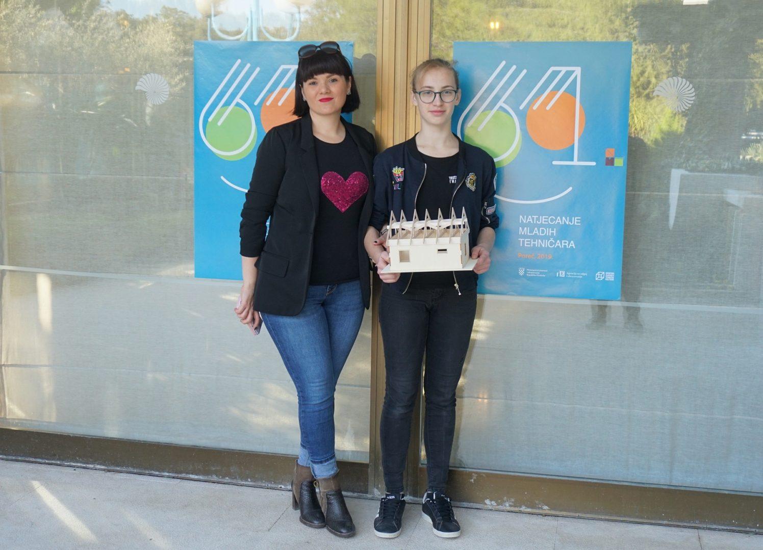 Renata Martinec i učenica Judita Herc