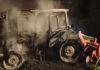požar traktor