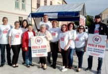 """Dio volontera inicijative """"67 je previše"""" za Međimursku županiju"""