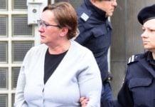15.05.2019., Varazdin - Smiljana Srnec izlazi sa Zupanijskog suda nakon rocista o produzenja pritvora. Photo: Vjeran Zganec Rogulja/PIXSELL
