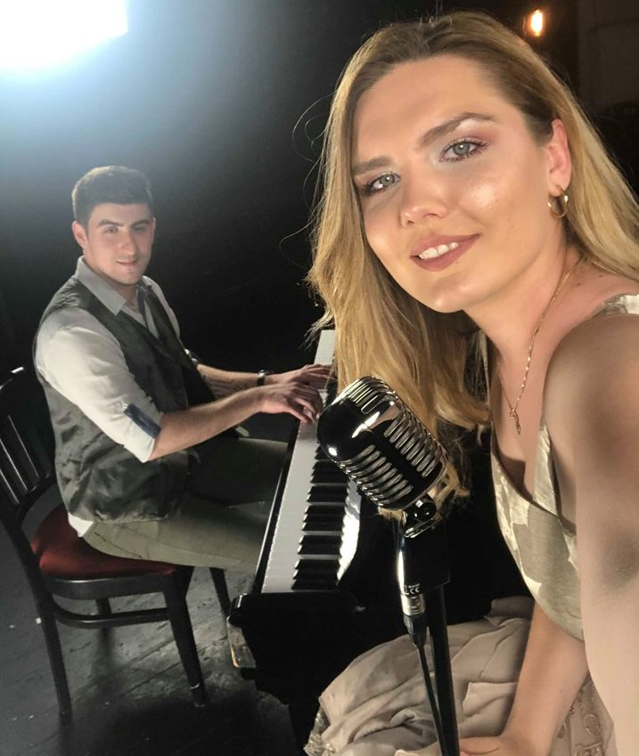 Neven i Gabriela na snimanju covera u HNK Varaždin