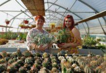 Marijana i kćer Ana u egzotičnom plasteniku kaktusa