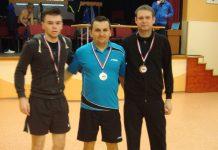 Filip Godina, Dubravko Hozjak i Josip Magdalenić - osvajači medalja u glavnom ždrijebu