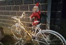 Djed Mraz na biciklu