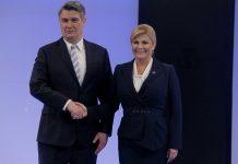 Zoran Milanović i Kolinda Grabar- Kitarović/foto: Dalibor Urukalović/PIXELL