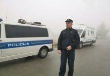 Policija kontrola zaleđena stakla
