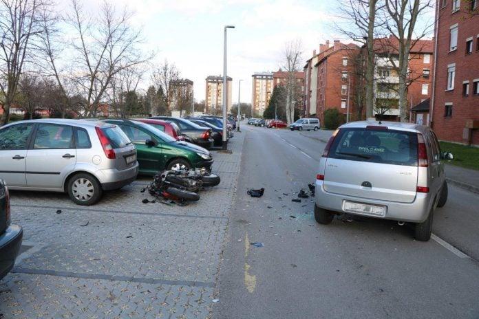 Mjesto nesreće u Ulici Ivana pl. Zajca u Čakovcu, foto: policija