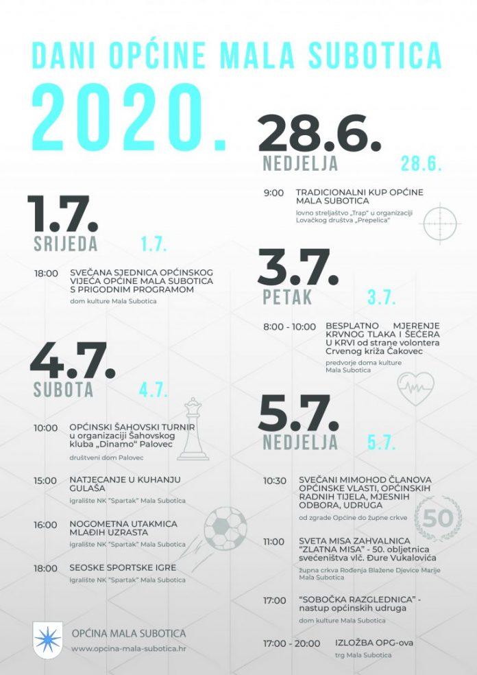 plakat dani opcine 2020